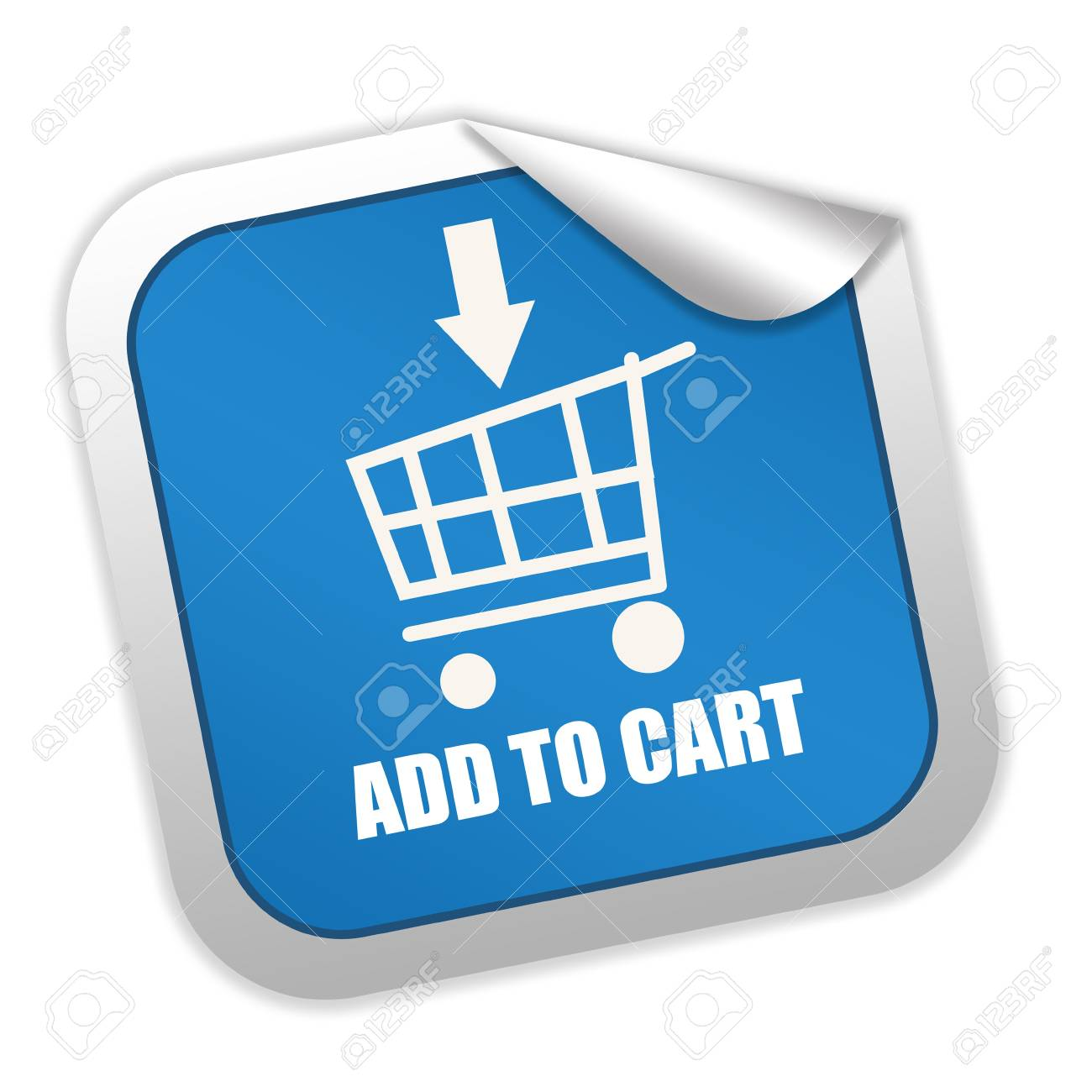 Add to cart label Stock Photo - 8885311