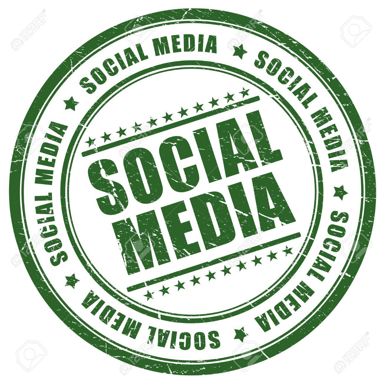 Social media stamp Stock Photo - 8885328