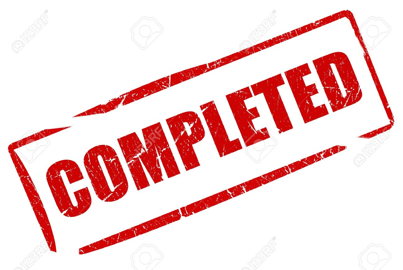 Completed stamp Stock Photo - 9156436