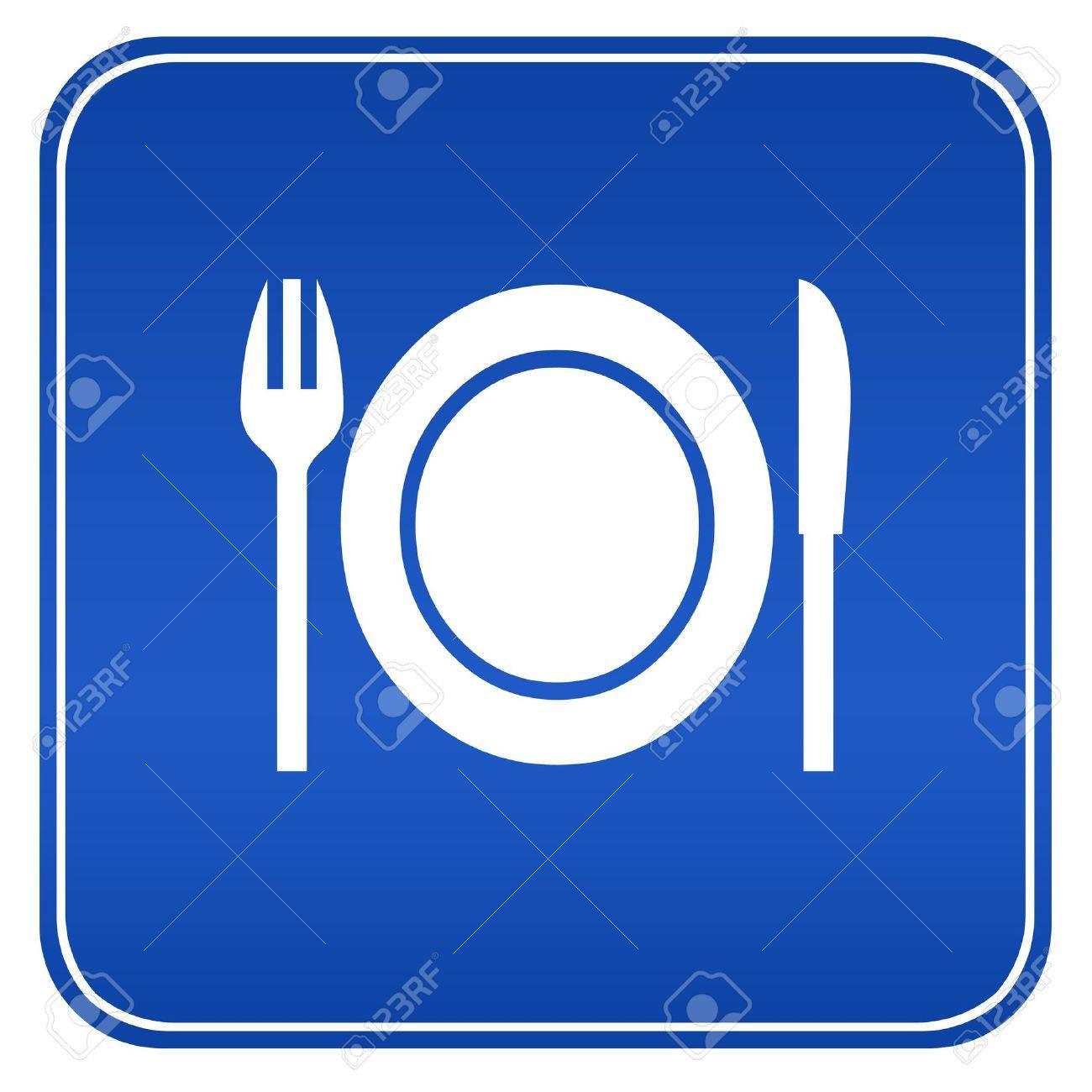 Restaurant blue sign Stock Photo - 9156422