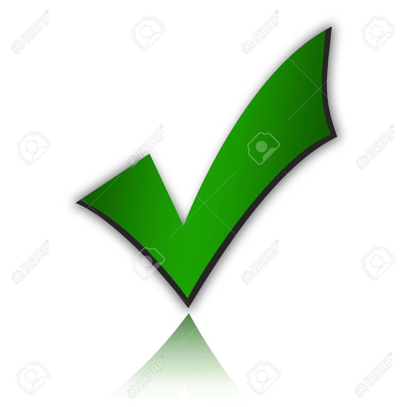 Green tick Stock Photo - 9156448