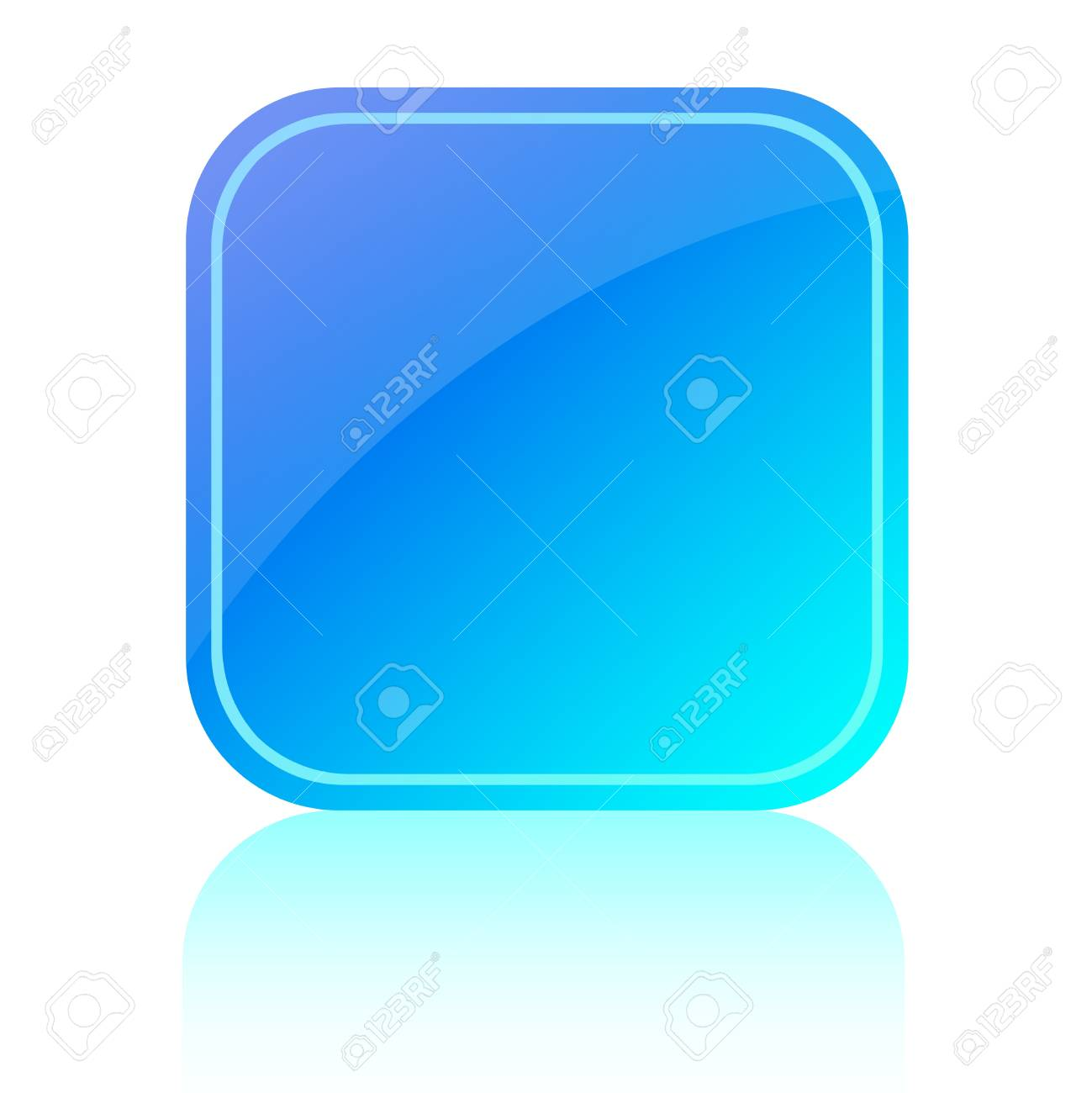 Blue glassy icon Stock Photo - 9718591