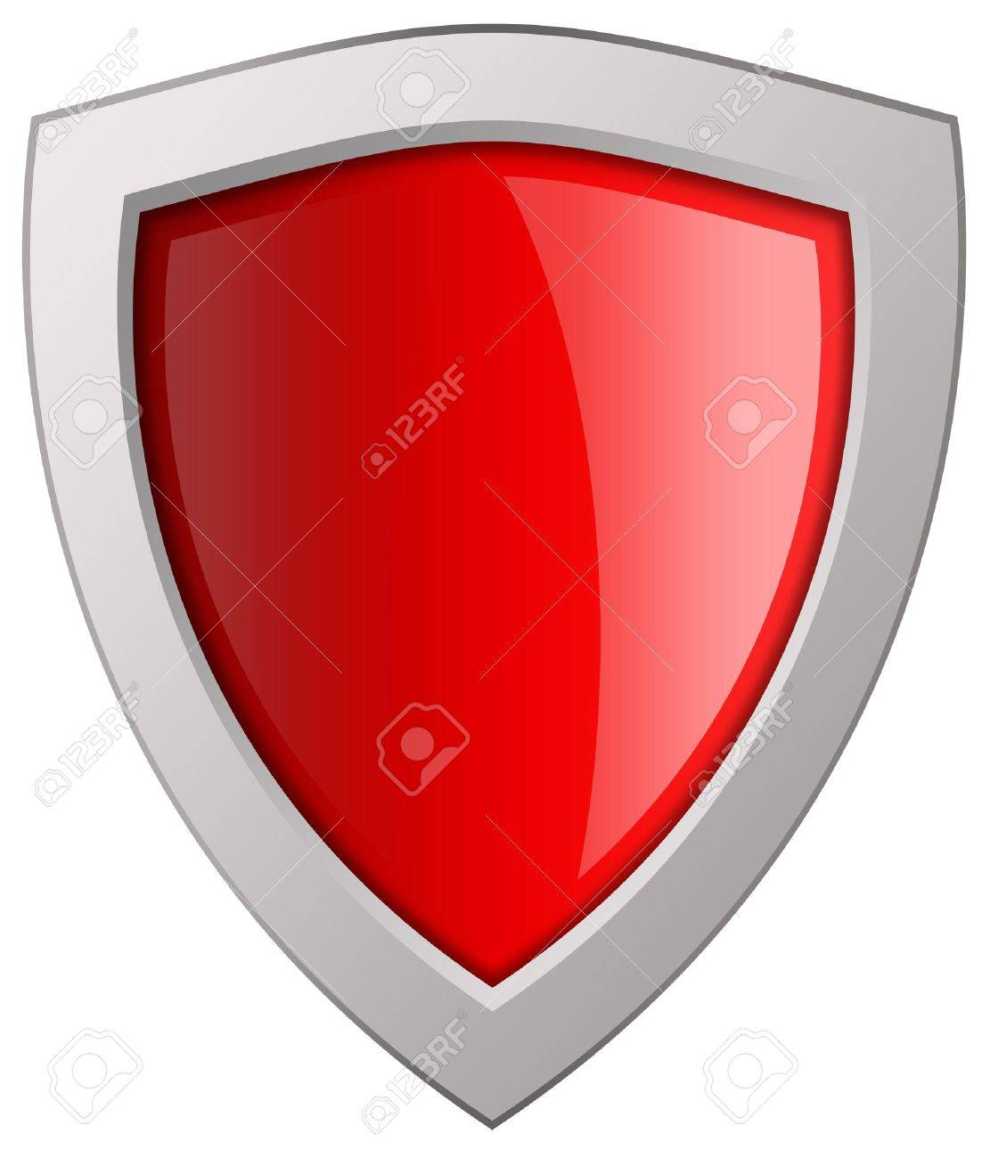 Blank shield icon Stock Photo - 9718595