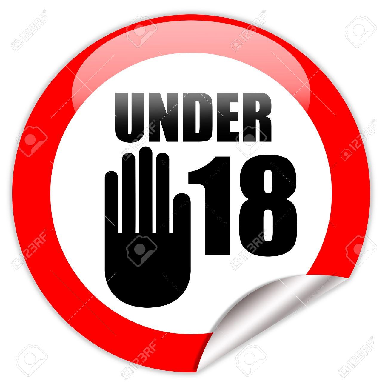 Under eighteen sign Stock Photo - 9849783