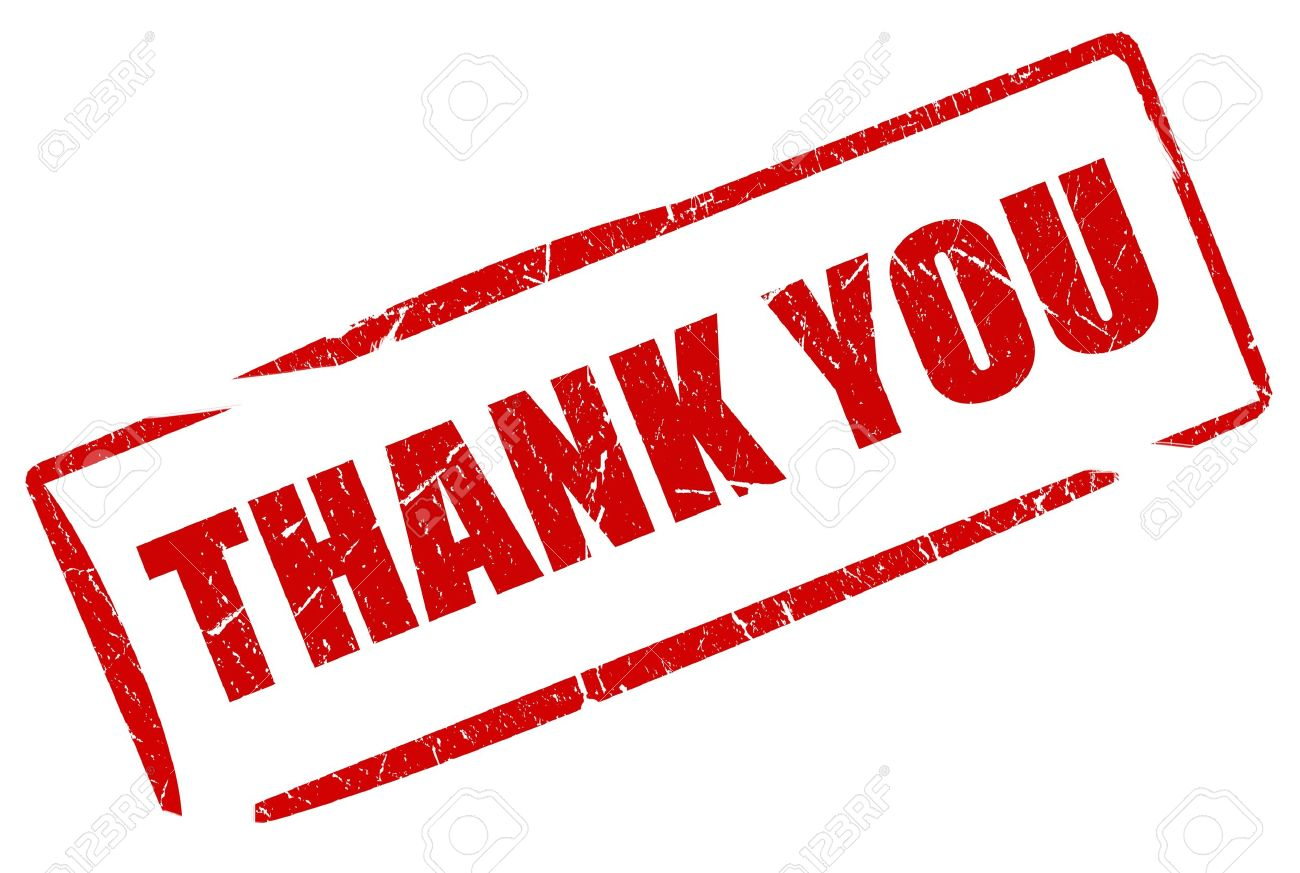 Thank you stamp Stock Photo - 9849796