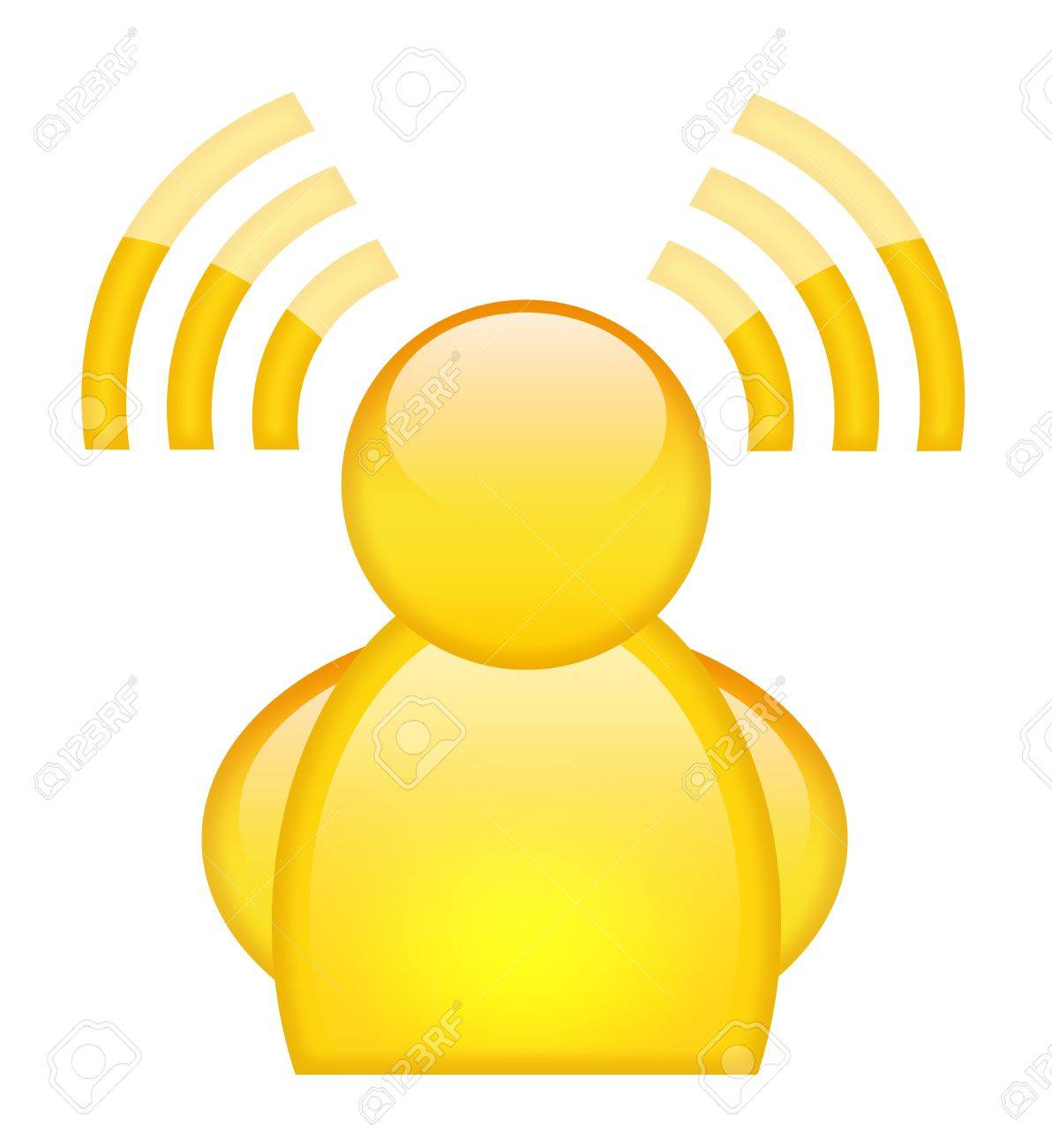 Rss user icon Stock Photo - 9986630