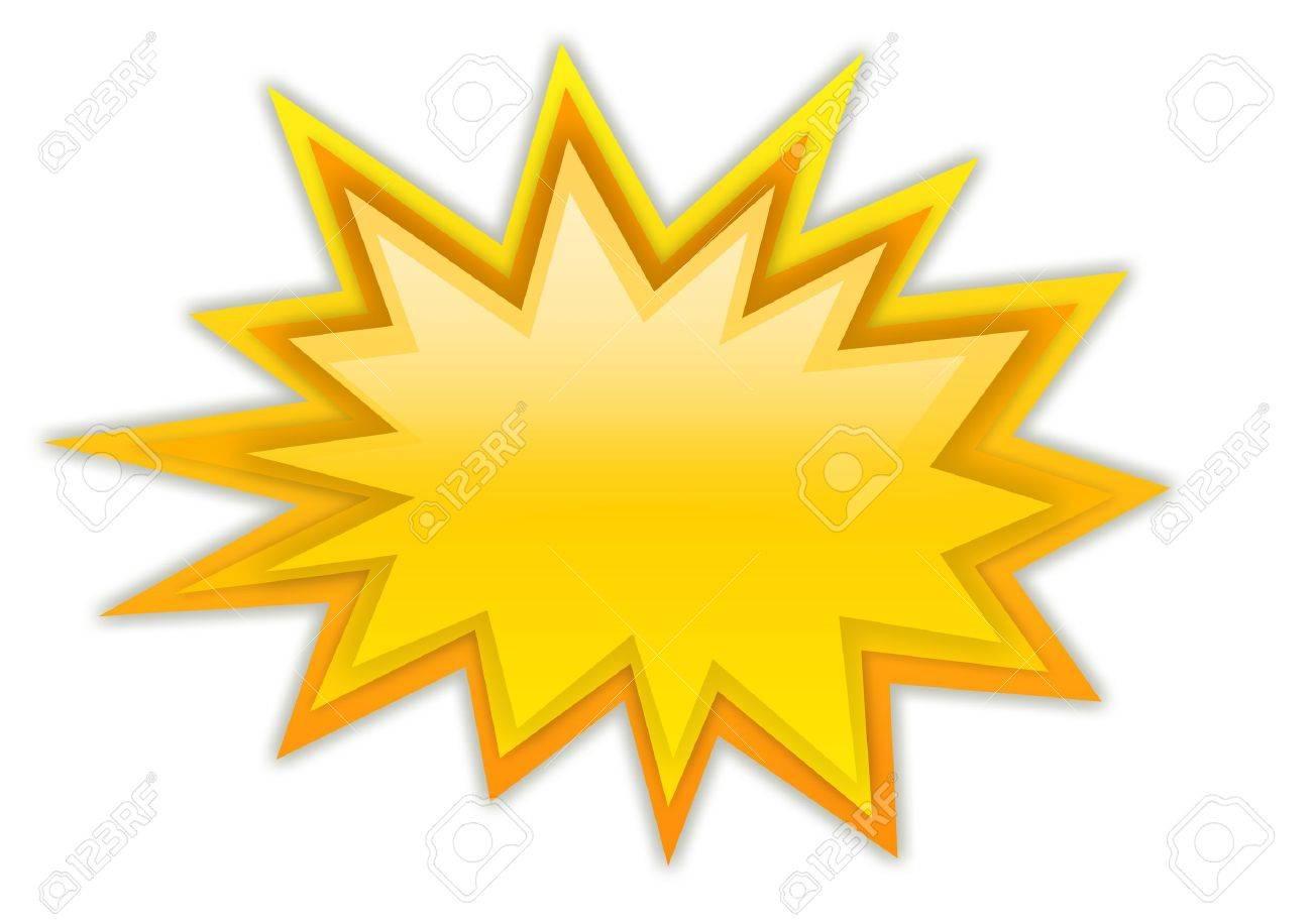 Boom splash star isolated on white Stock Photo - 9986658