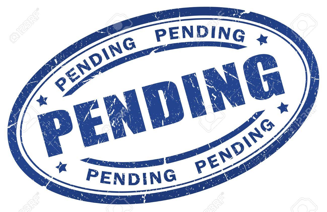 Pending stamp Stock Photo - 9986714