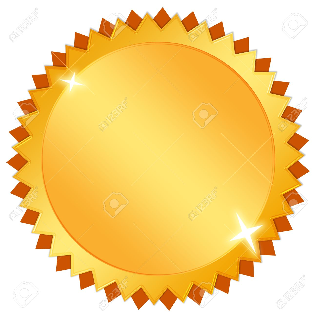 Blank Gold Certificate Icon Stock Photo, Picture And Royalty Free ...