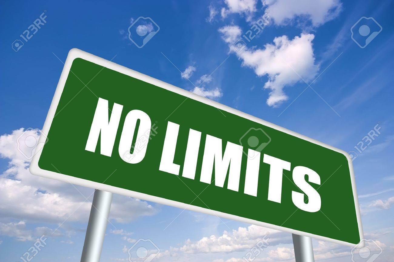 No limits road sign - 10327470
