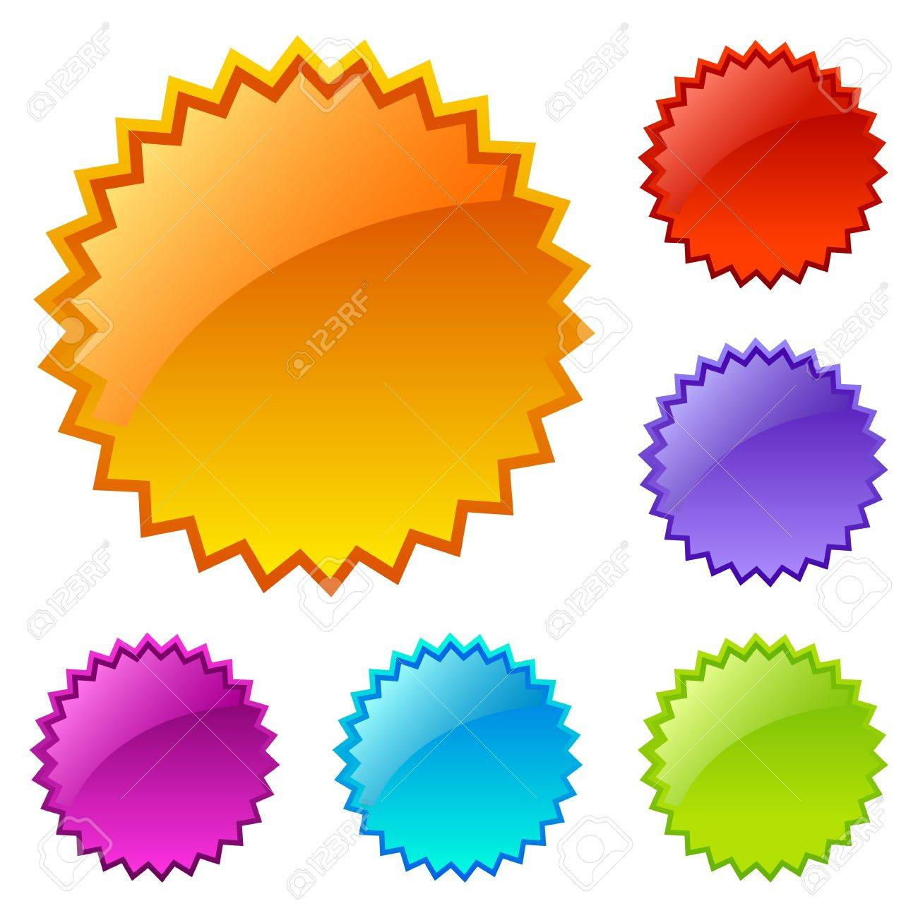 blank colored web icons Stock Vector - 10428457