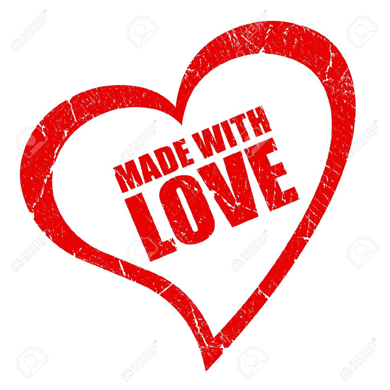 Made with love symbol Stock Photo - 10428473