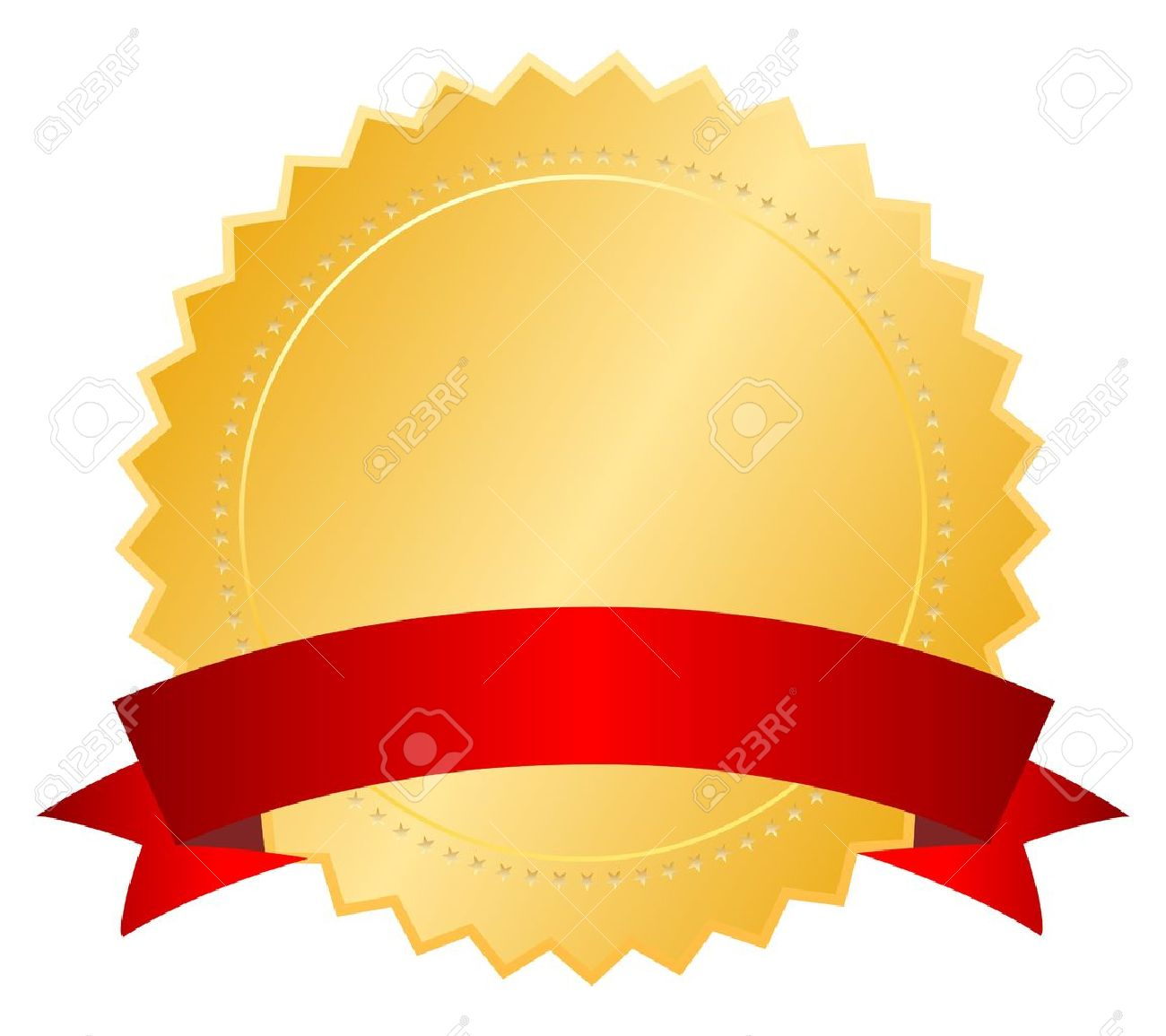 blank certificate with ribbon vector illustration royalty free