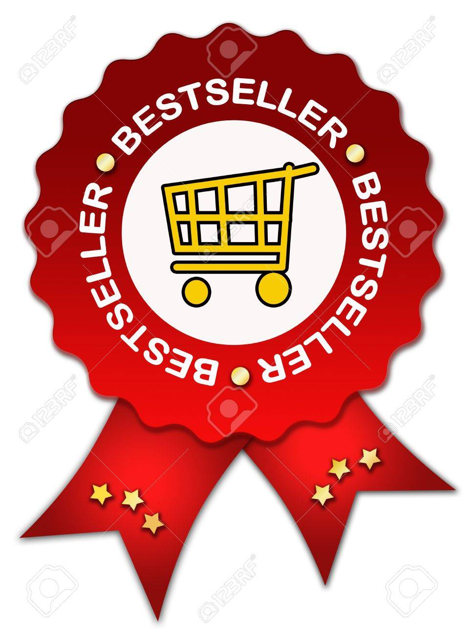 Bestseller icon with ribbon Stock Photo - 11698013
