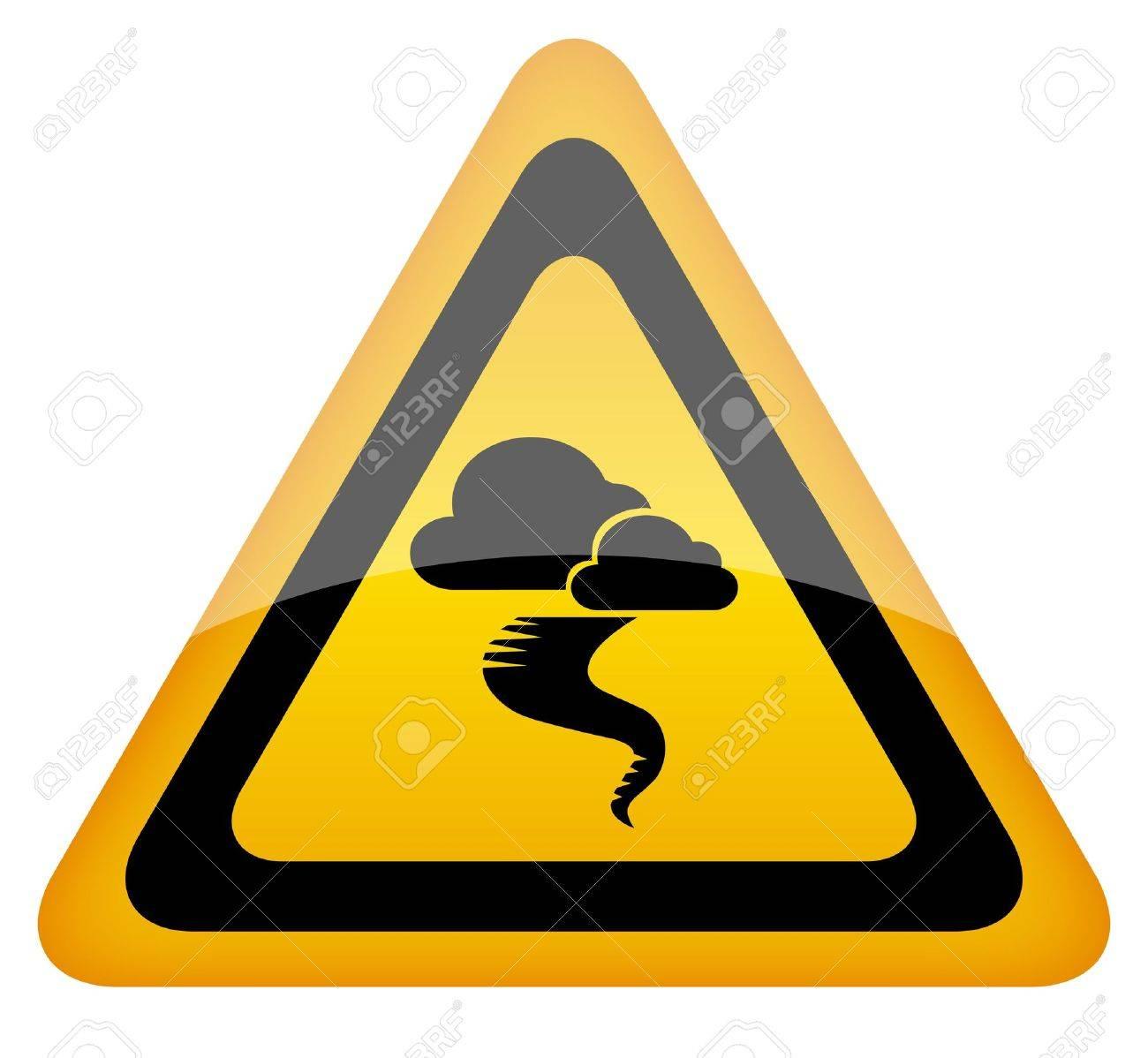 Hurricane warning sign, vector illustration Stock Vector - 12414746