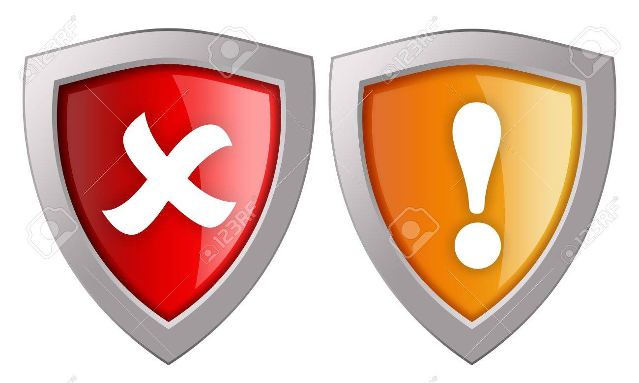Security shields icon Stock Photo - 12414768