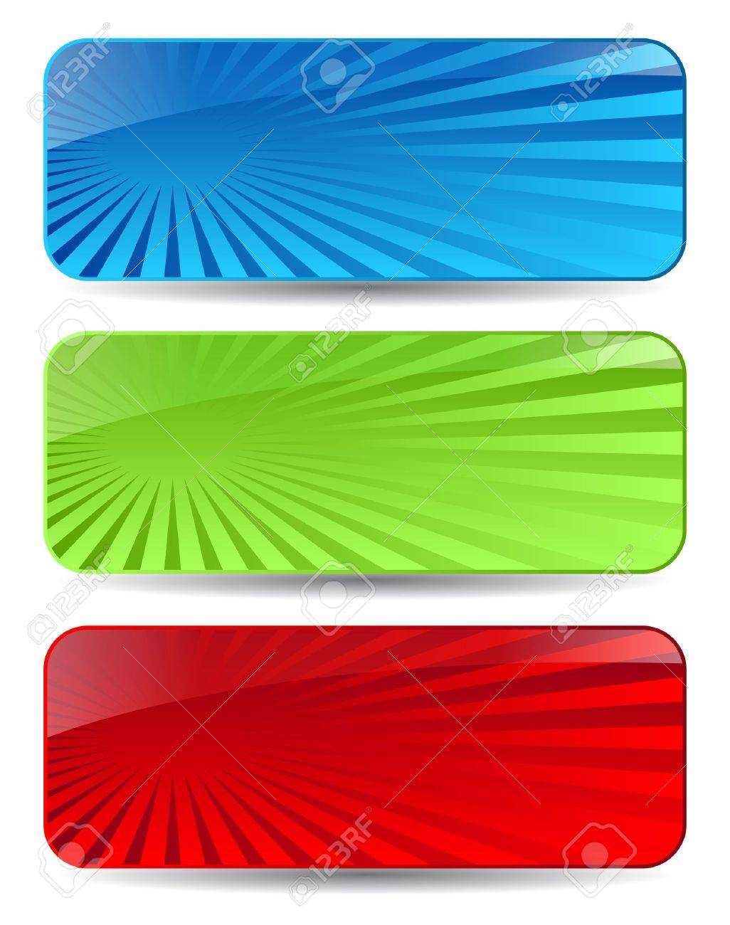 Abstract headers set Stock Vector - 12414959
