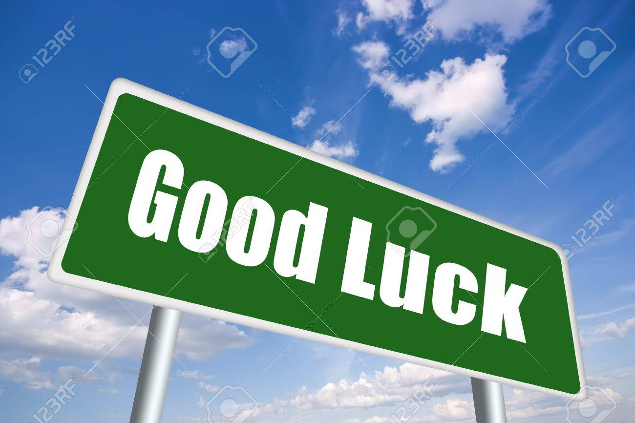 Good luck illustrated sign Stock Photo - 12414949
