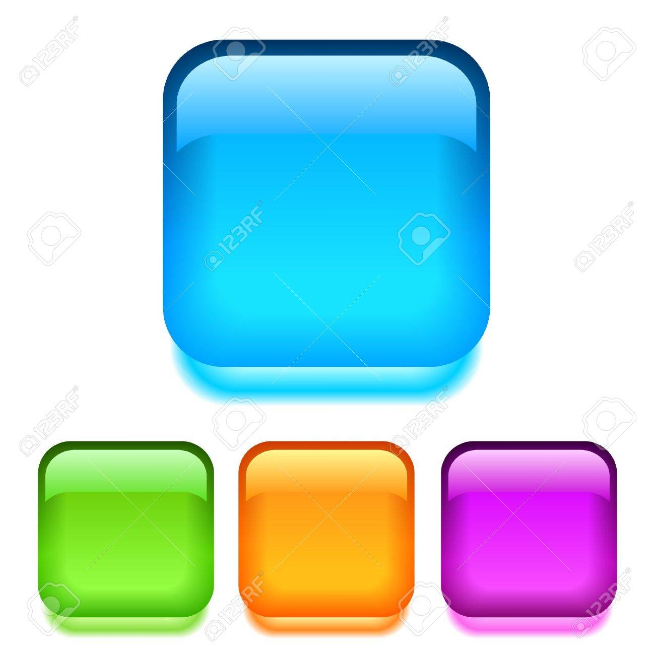 glass square buttons