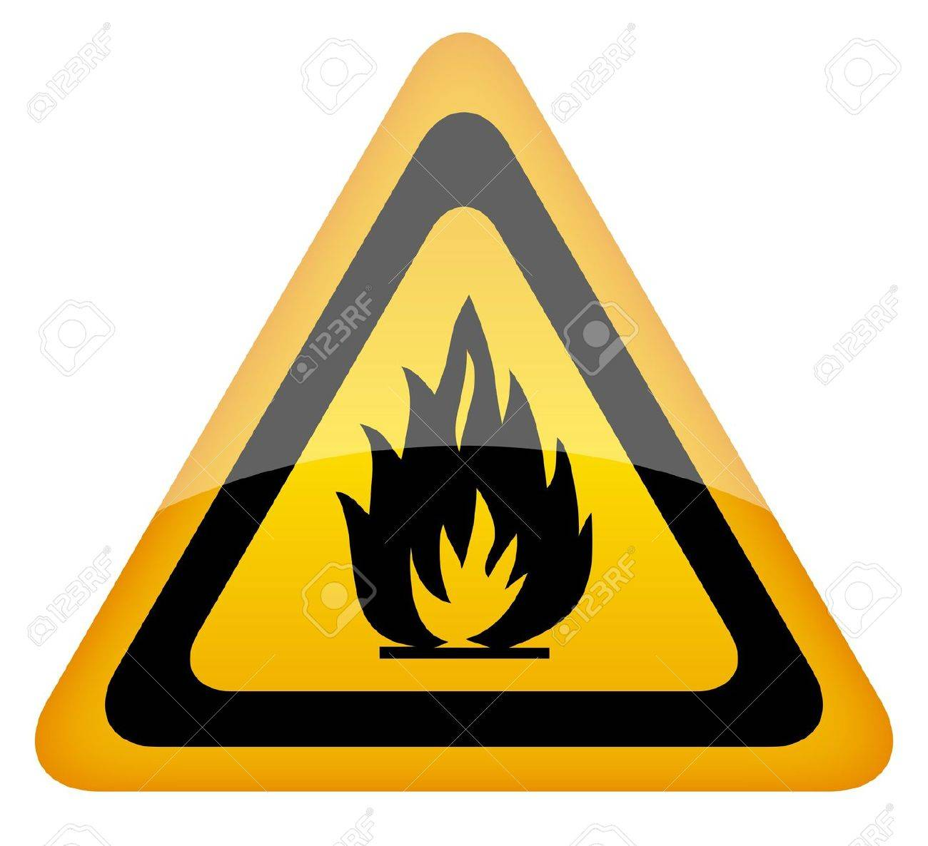 fire warning sign Stock Vector - 12722640