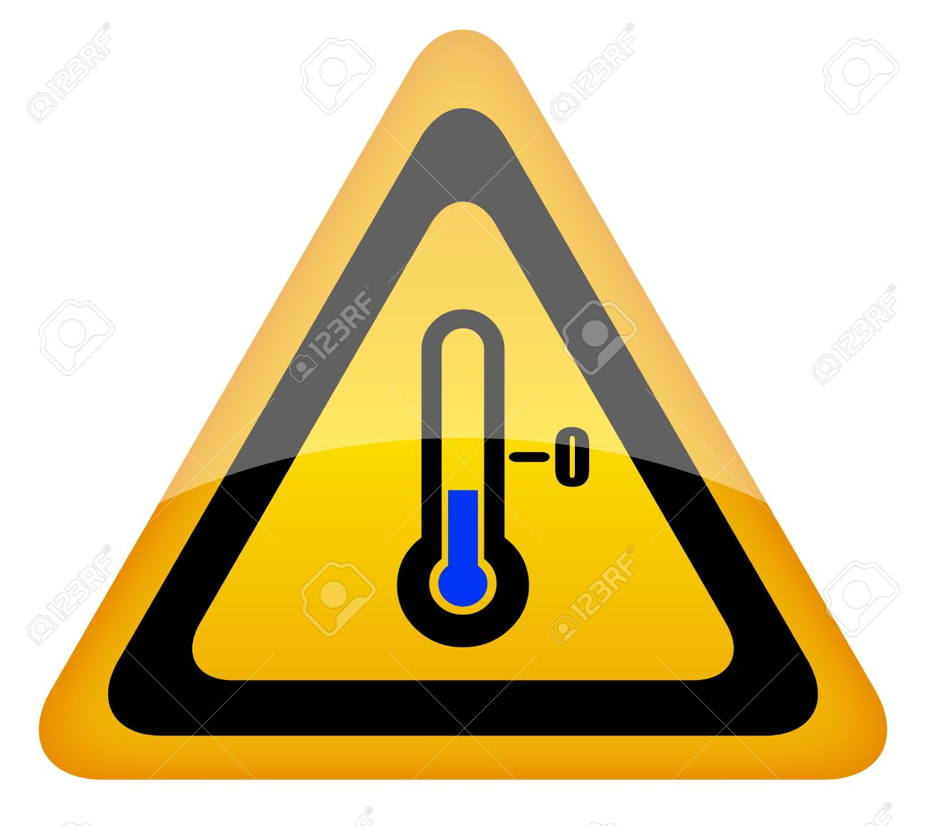 Low temperature vector warning sign Stock Vector - 12894936
