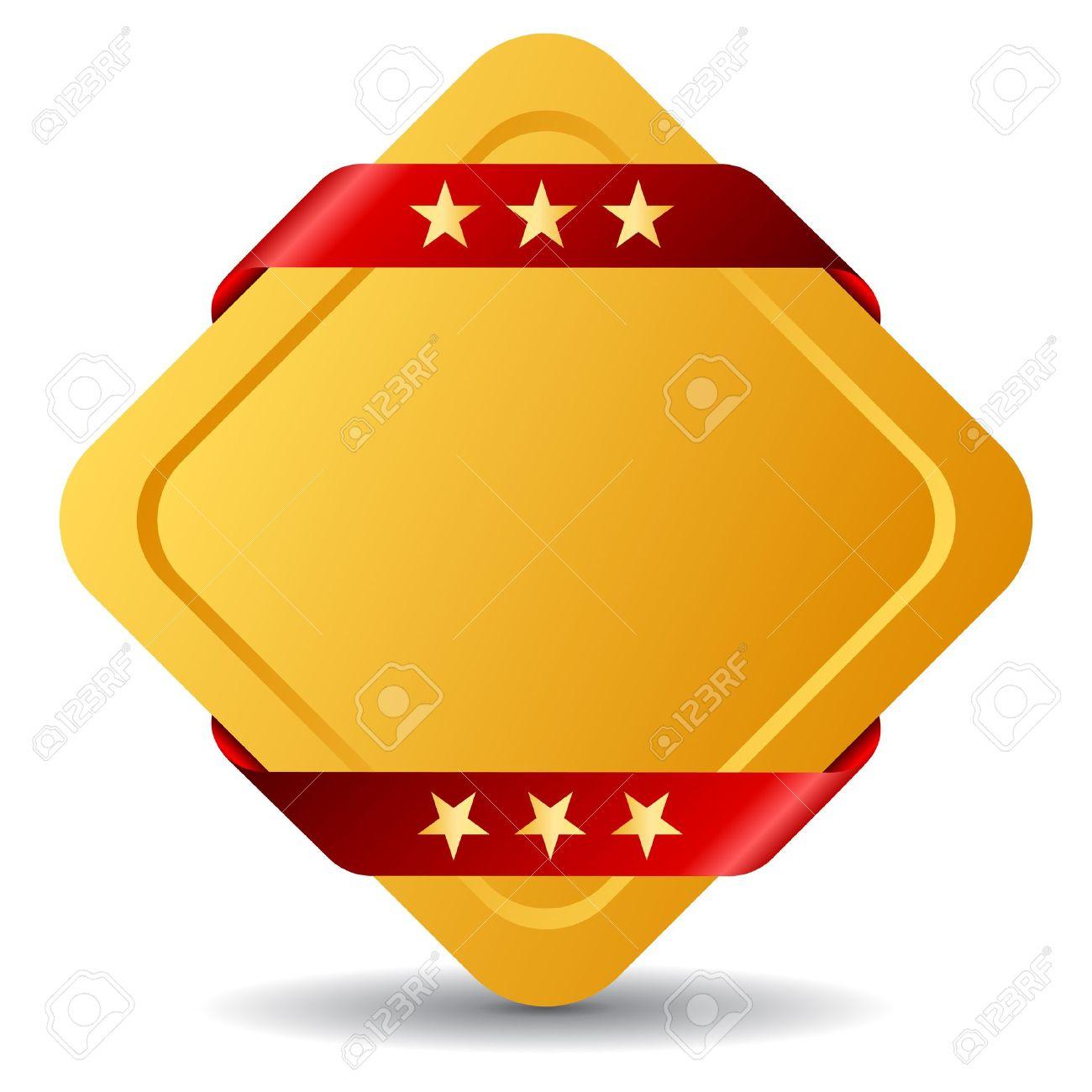 Rhombus blank award symbol illustration Stock Vector - 13310774