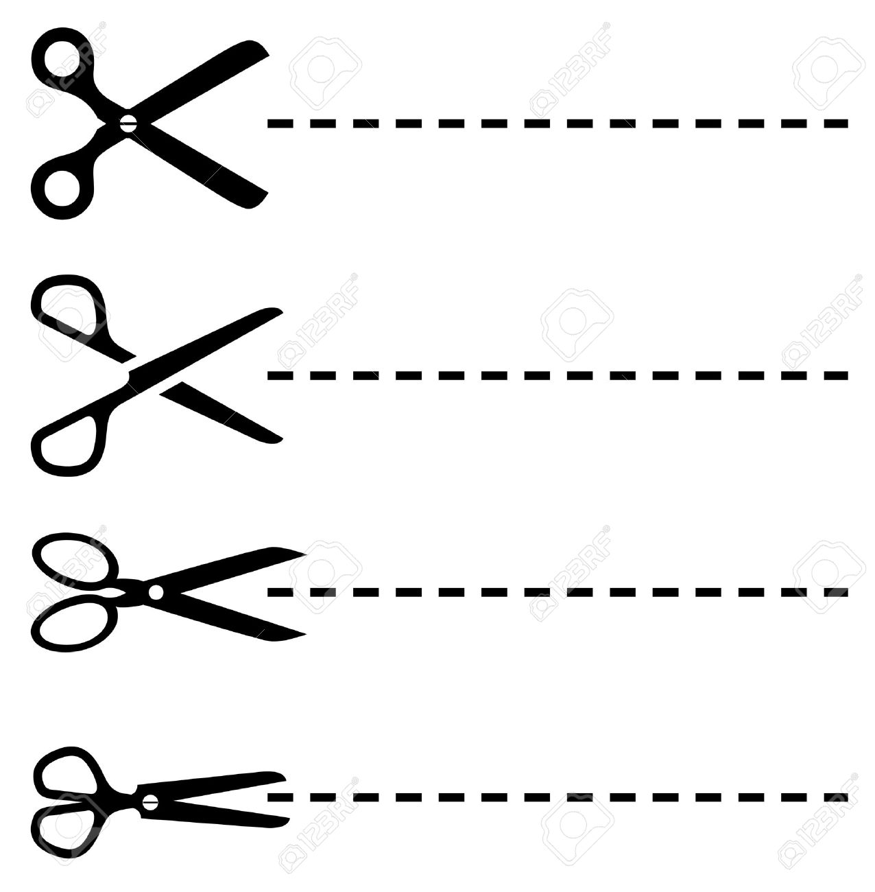 vector dotted lines with scissors set royalty free cliparts vectors rh 123rf com dotted line vector png dotted line vector illustrator
