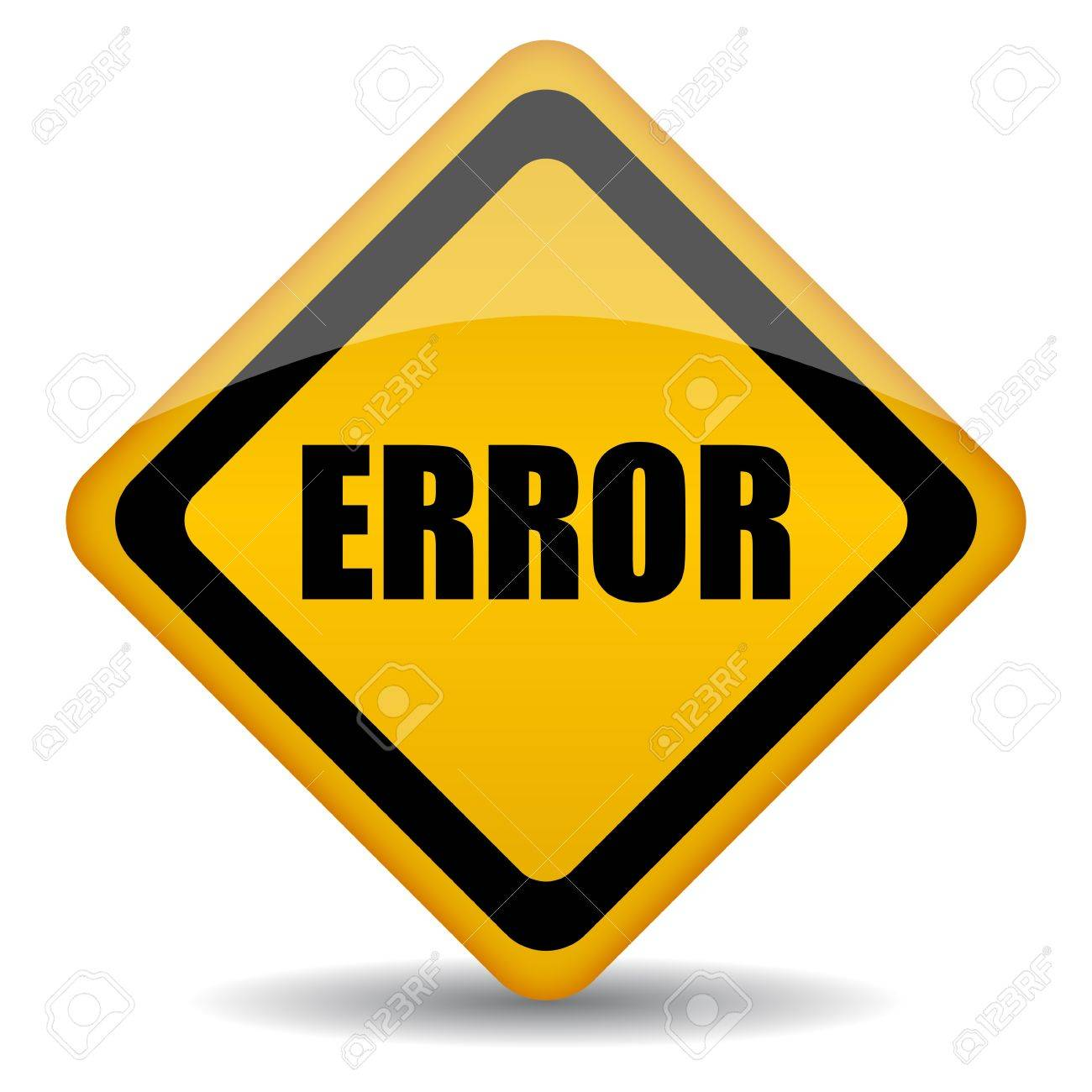 error sign illustration Stock Vector - 14318376