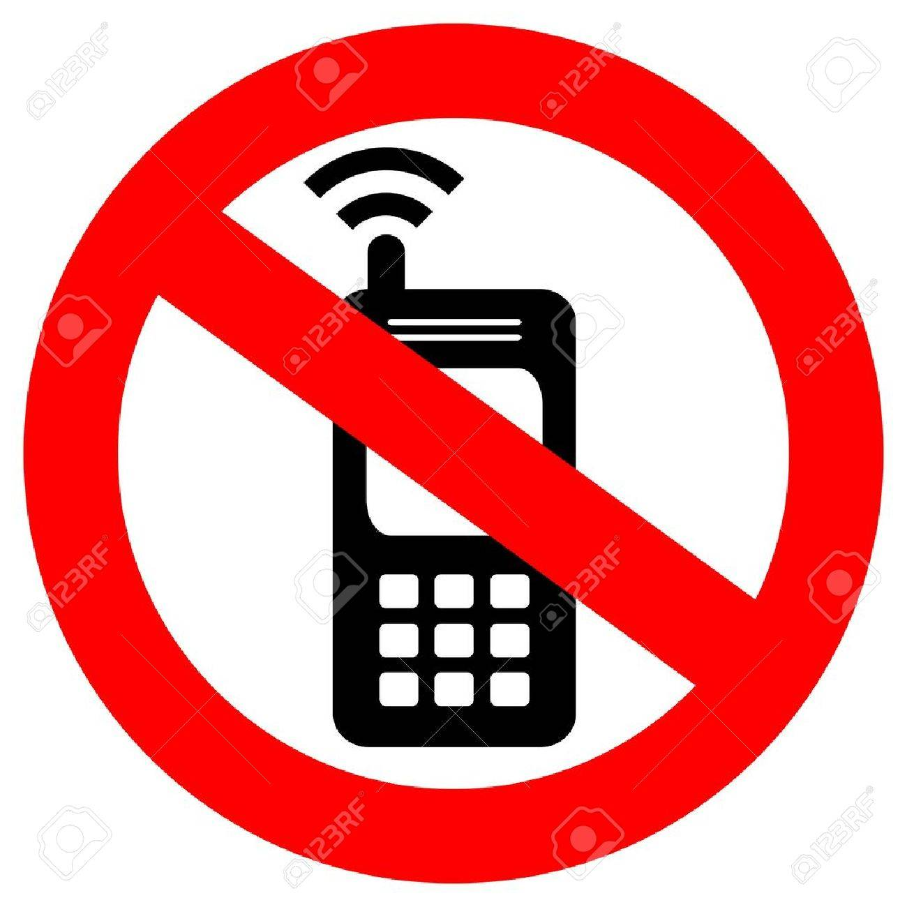 no cell phone sign stock vector 14405400