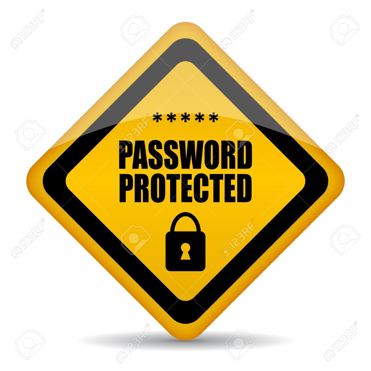Vector Password Protected Sign Royalty Free Cliparts, Vectors, And ...