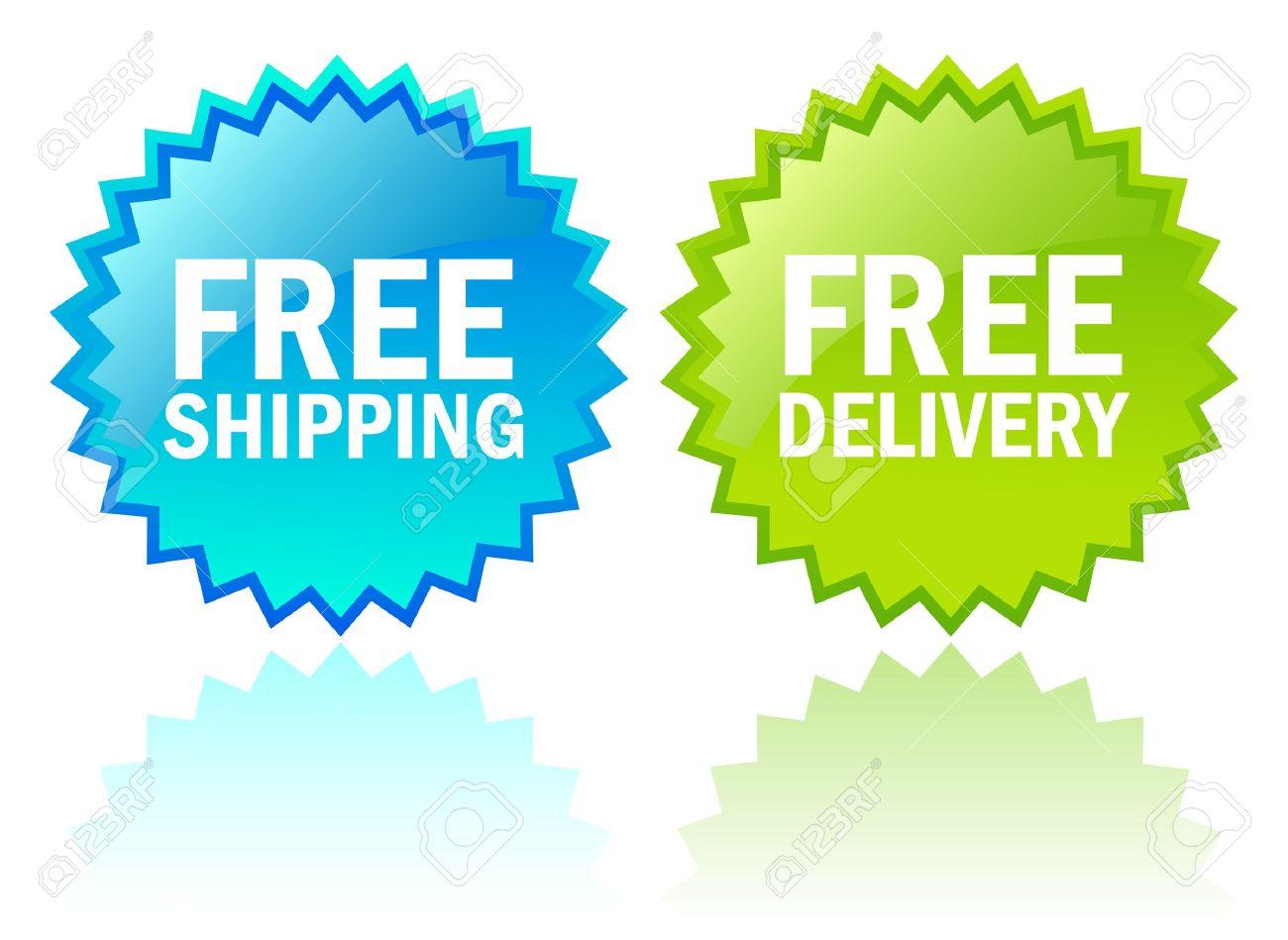 Vector free shipping icons Stock Vector - 14562975