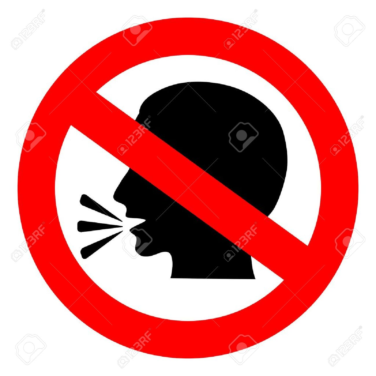 vector no talking sign royalty free cliparts vectors and stock rh 123rf com No Talking Sign No Talking Sign