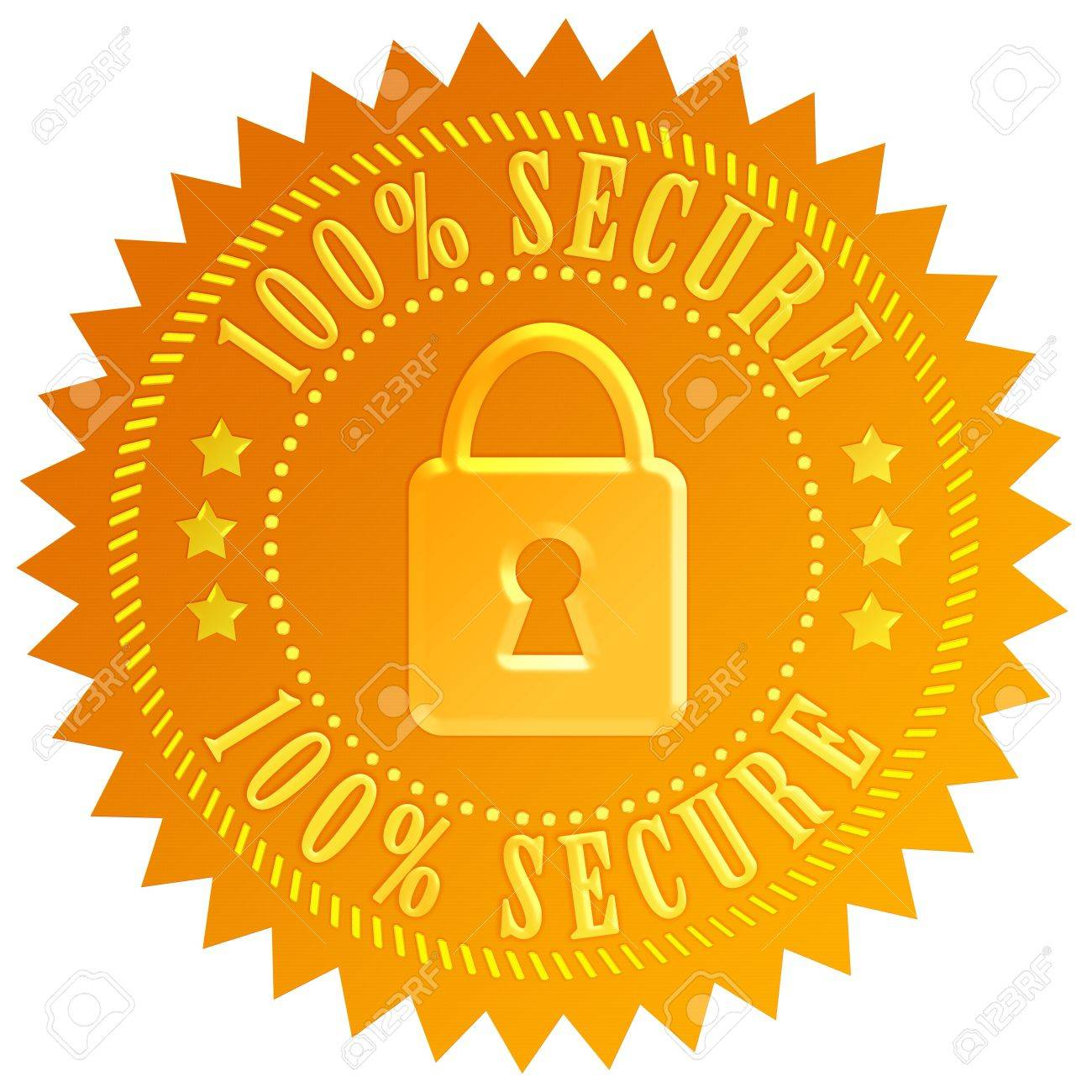 Secure lock emblem Stock Photo - 14755223