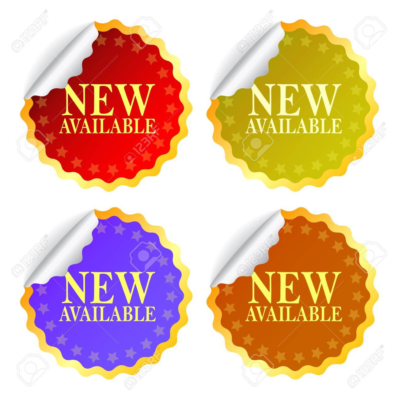 New available stickers Stock Vector - 15198315