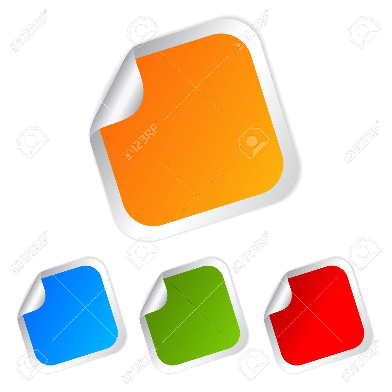 Square stickers set, vector illustration Stock Vector - 15198312