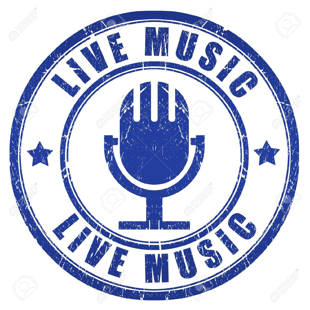 Live Music Stamp Stock Photo Picture And Royalty Free Image Image