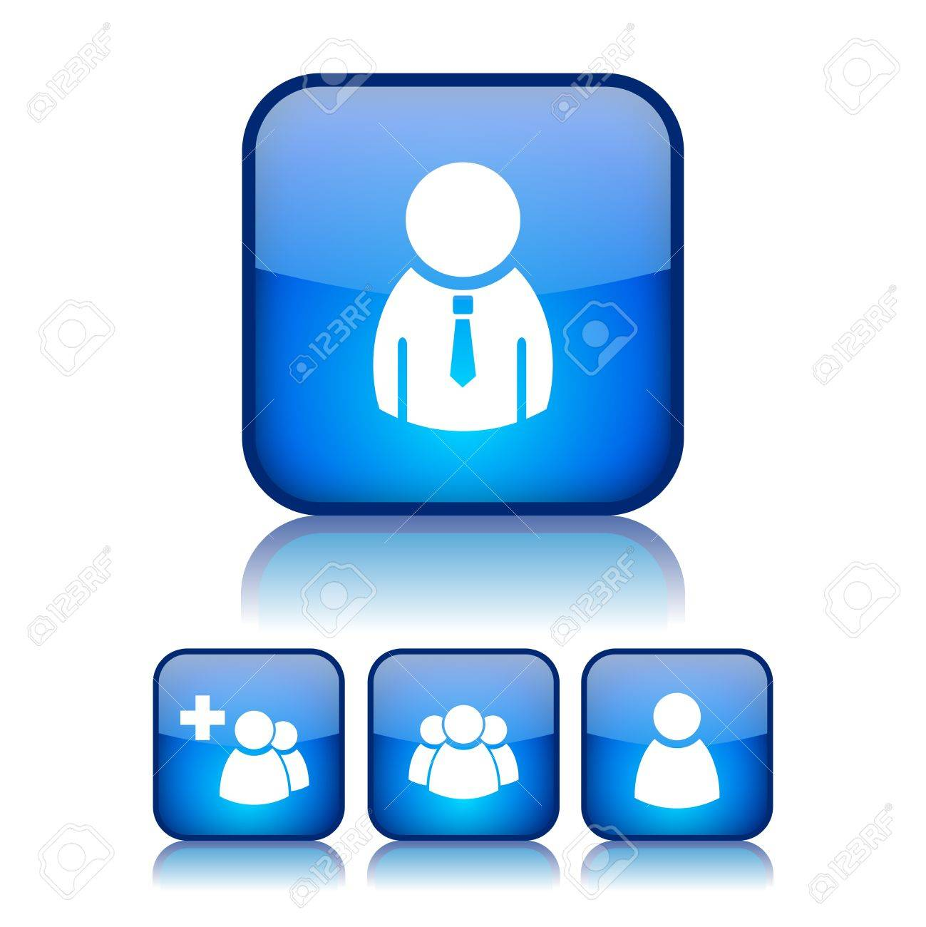 Internet users buttons, illustration Stock Vector - 15167864