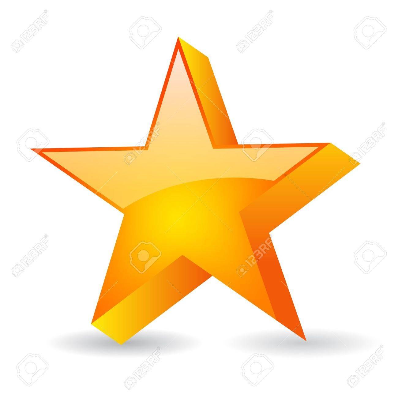 Vector glass star illustration Stock Vector - 15483682