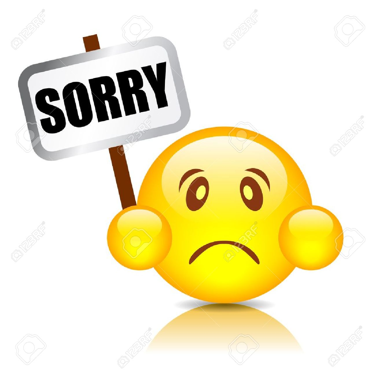 Sorry smiley illustration Stock Vector - 15714154