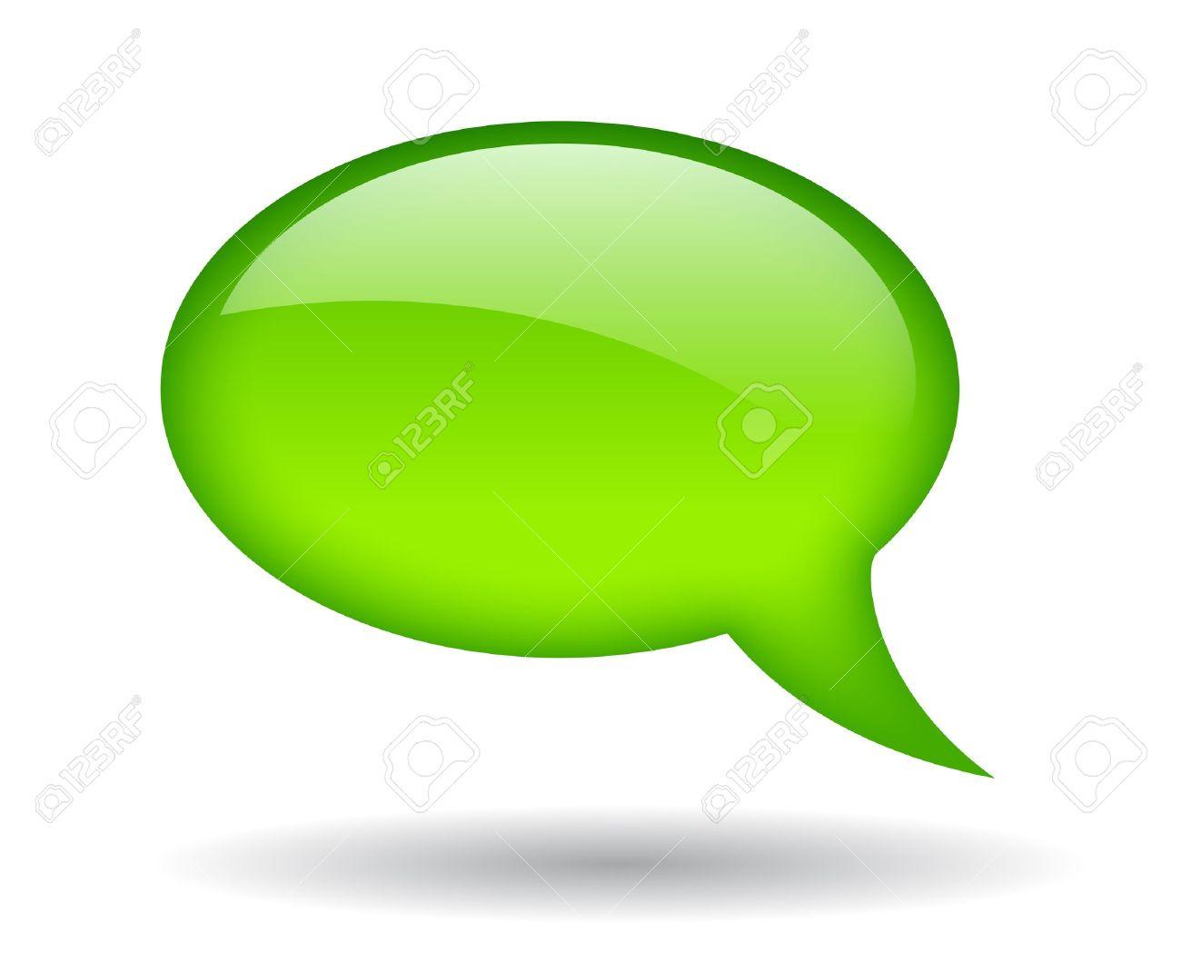 Green speech bubble, illustration Stock Vector - 15856650