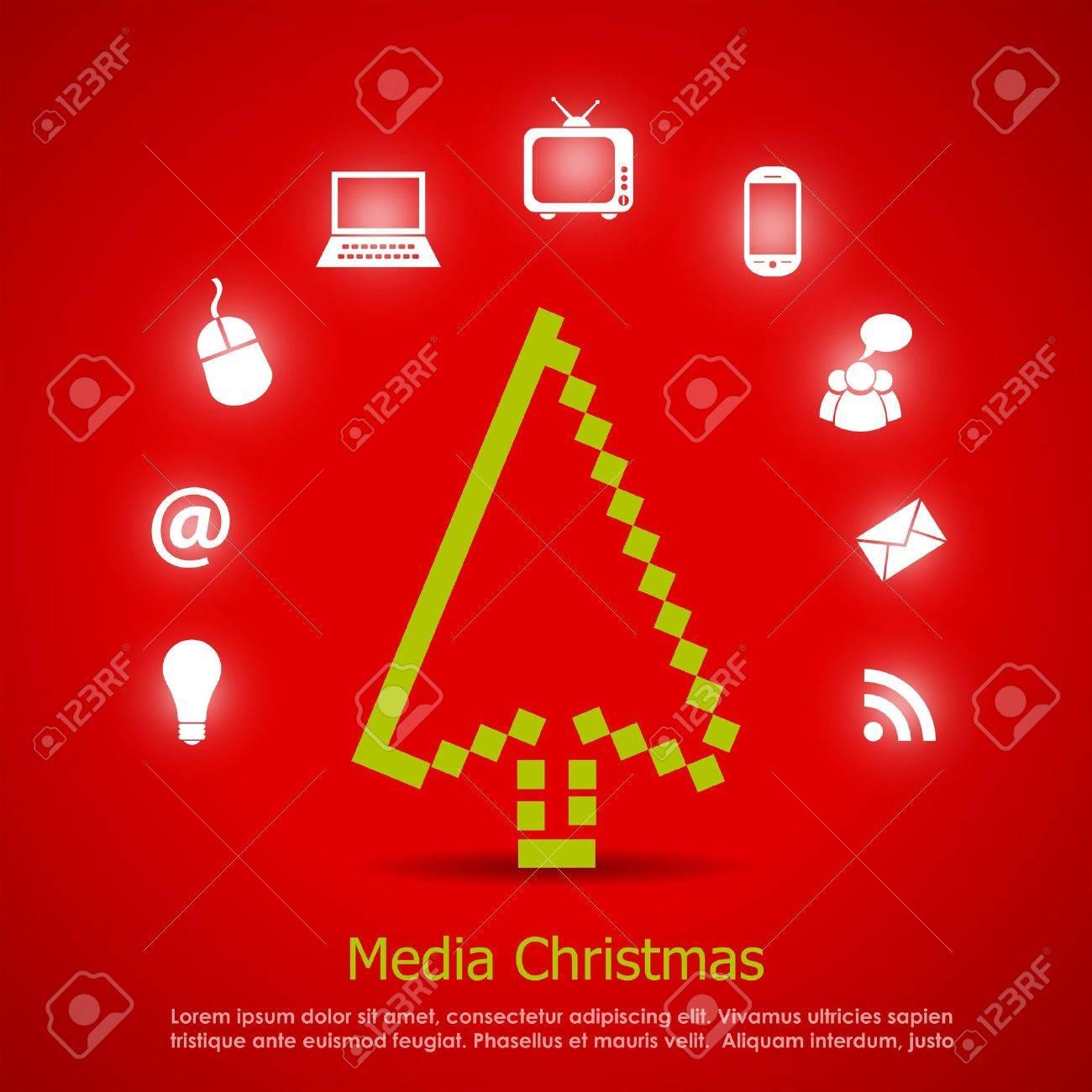 Media christmas vector card Stock Vector - 16145629
