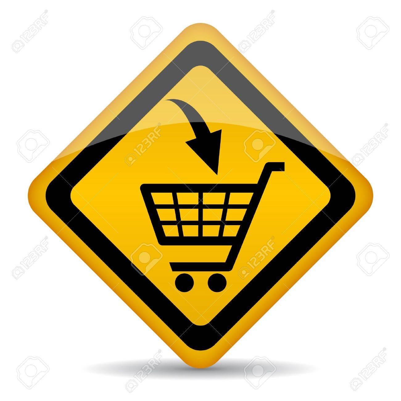Vector shopping cart sign - 16145620