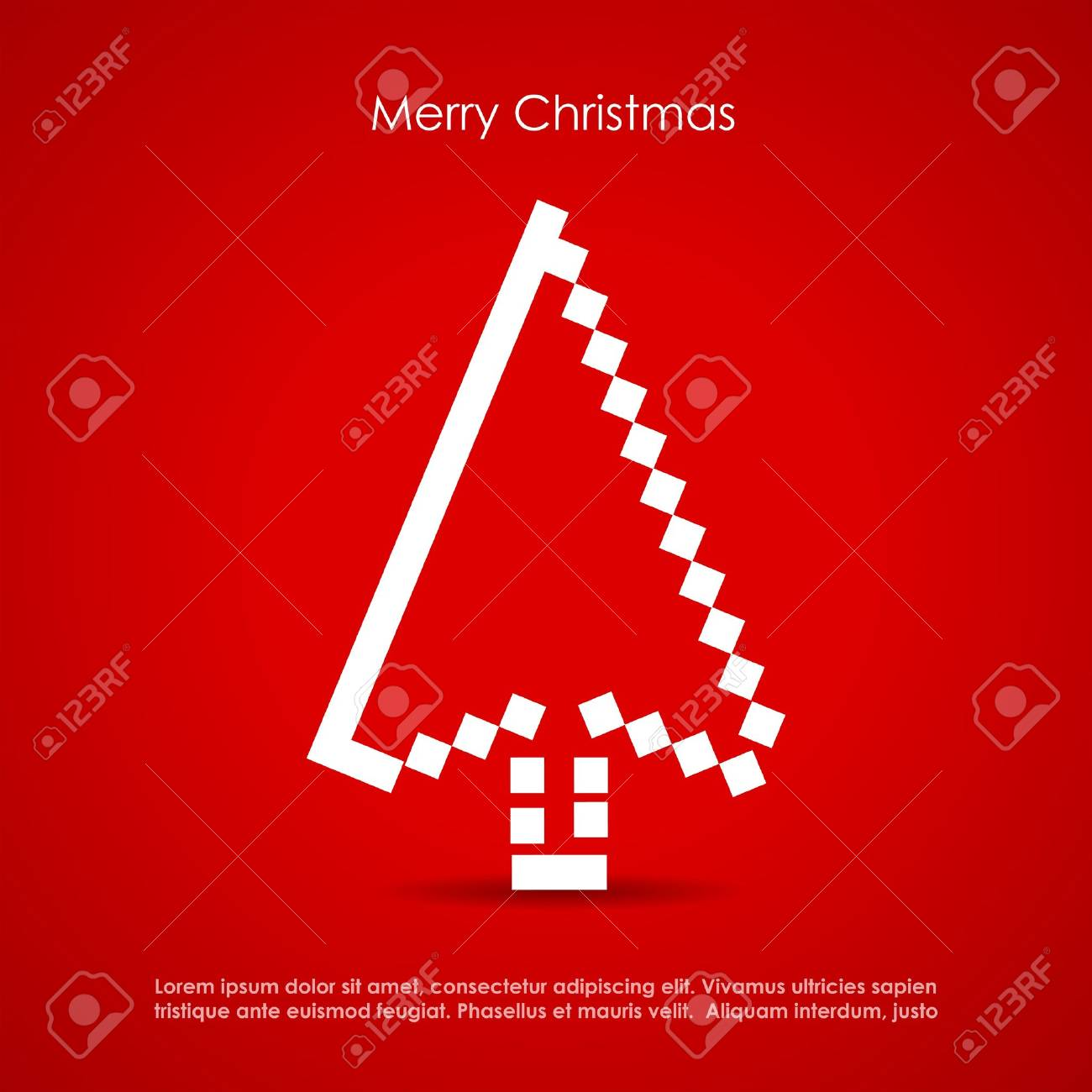 Merry Christmas postcard Stock Vector - 16483907