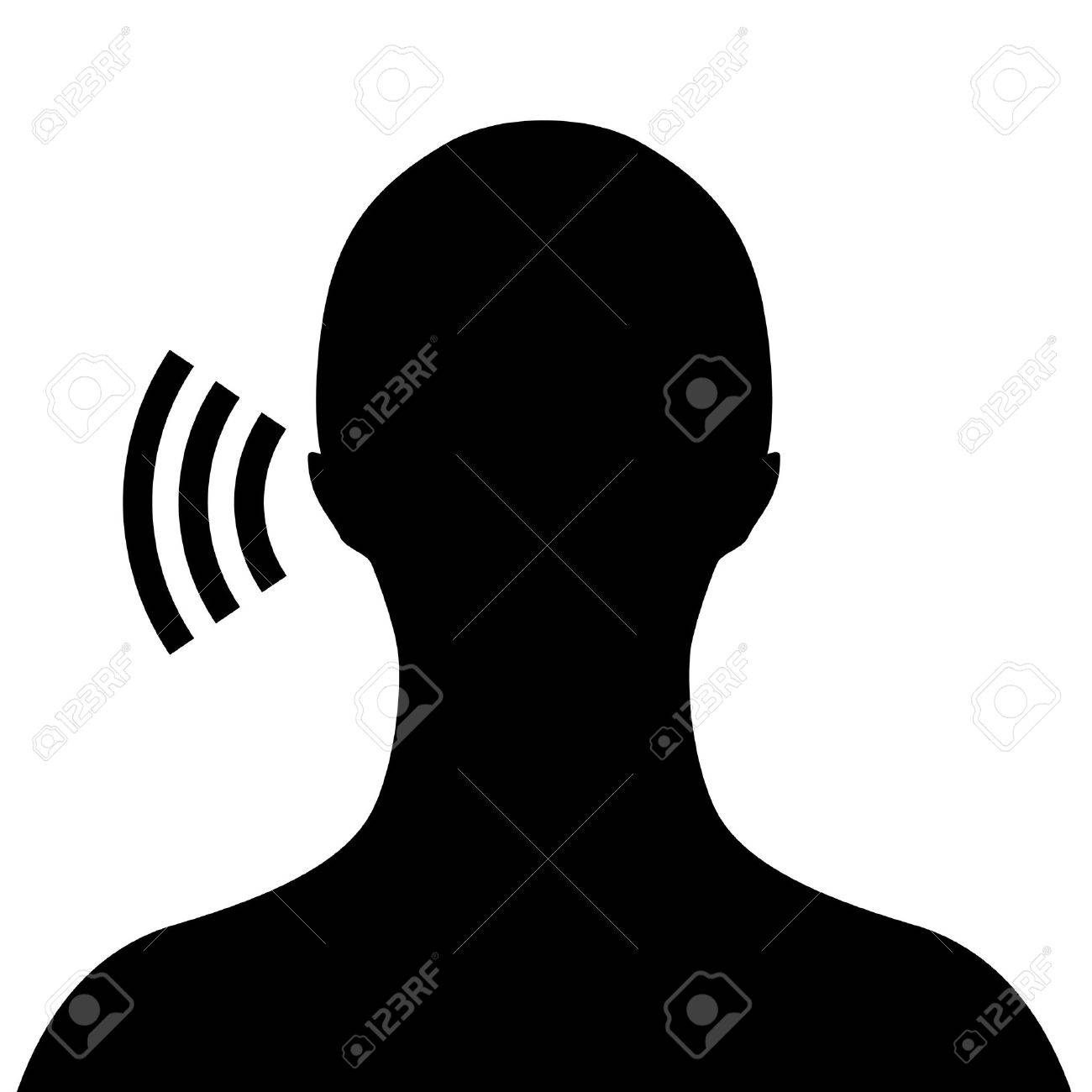 Listen Ear Icon Listening Ear Vector Listen