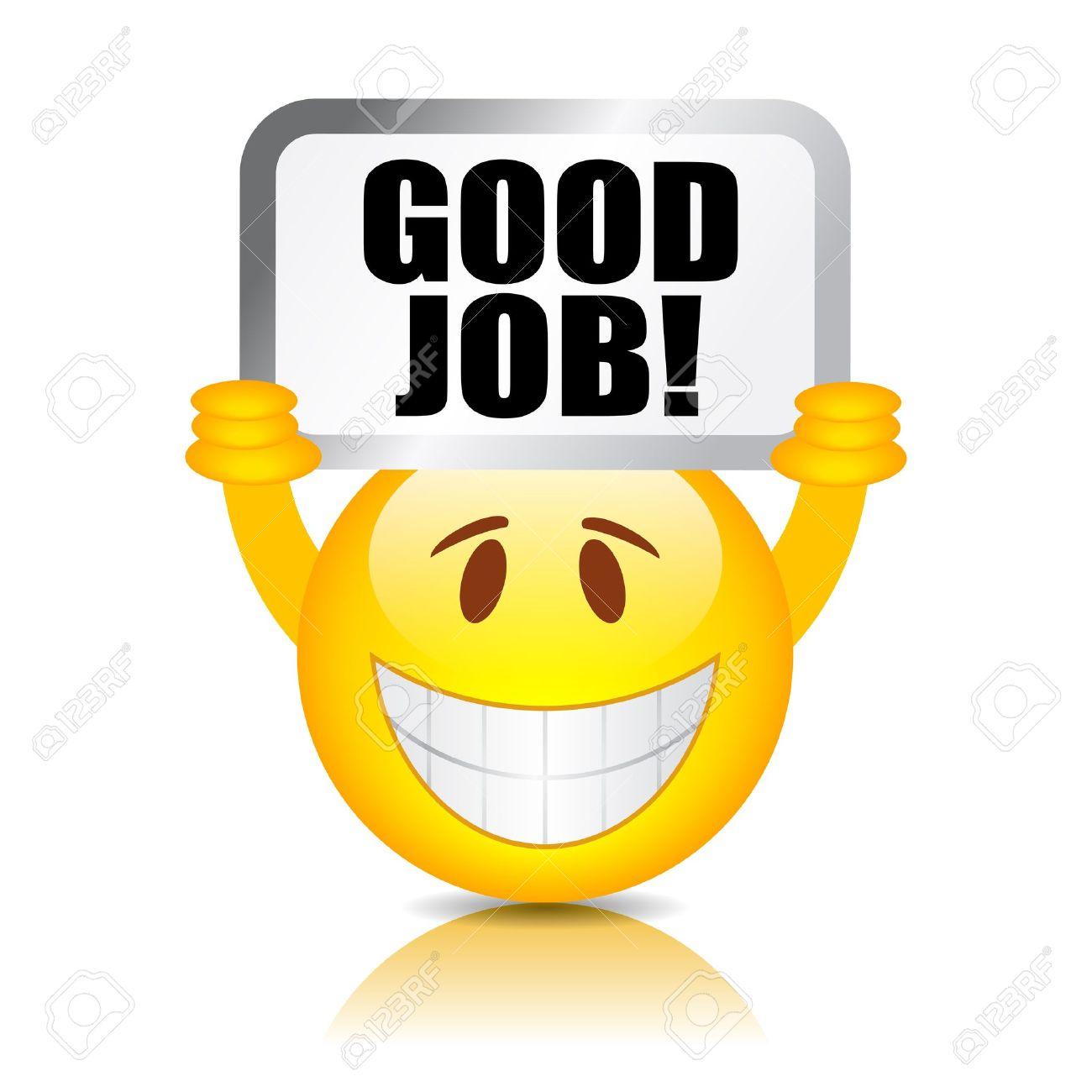 good job smiley Stock Vector - 18233954