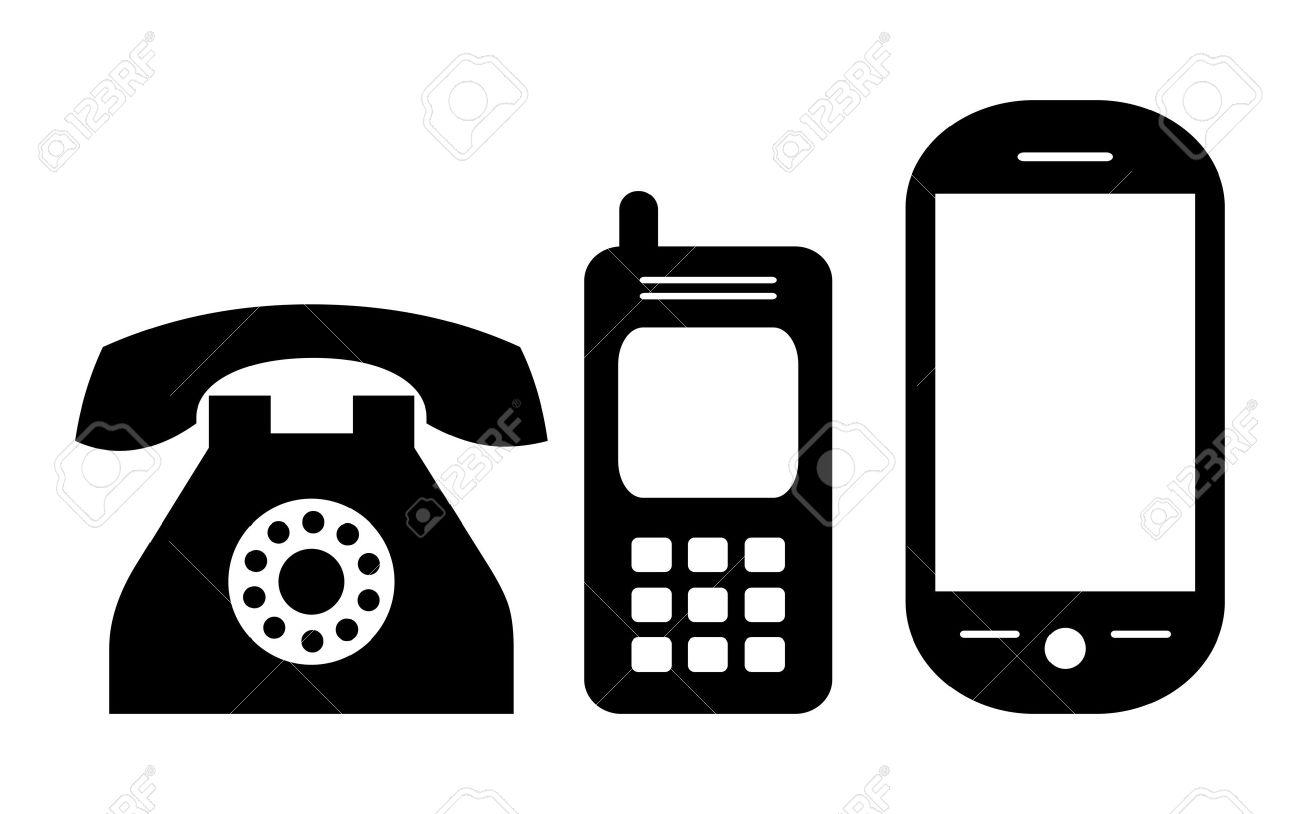 携帯電話の進化、イラスト ロイヤリティフリークリップアート、ベクター