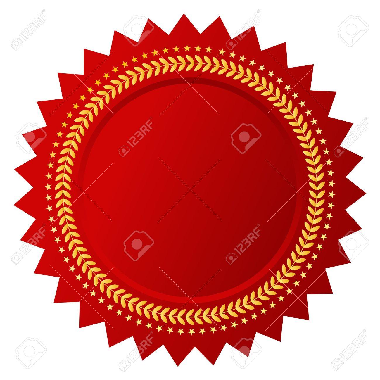 Vector red certificate Stock Vector - 18519969