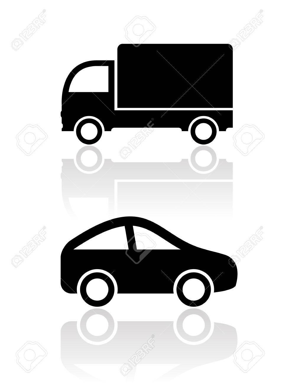 Car icons, clip art Stock Vector - 18954869