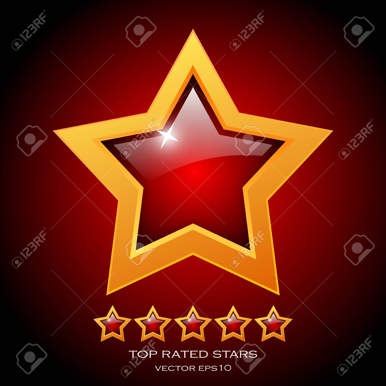 Review rating stars illustration Stock Vector - 18964569