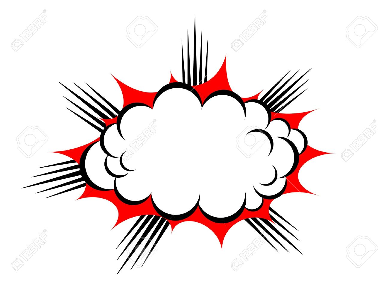 explosion cloud Stock Vector - 19245962